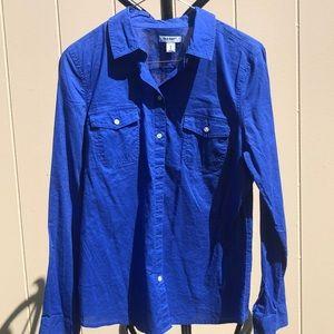 Gorgeous bright blue Old Navy medium blouse